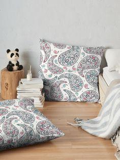 Cheerful Paisley  Floor Pillows