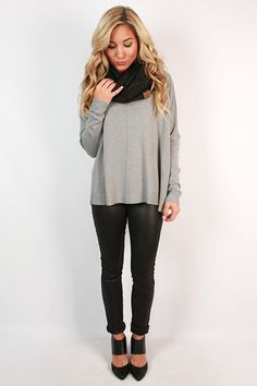 This sweater is warm and inviting, just like that coffee scent that envelops you on a cold day. Wear this sweater with leggings or jeans and a beanie to stay warm and stylish!