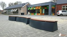 Betonbank DeLuxe Antraciet Ovaal bij De Toekan in Oosterwolde