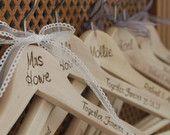Personalised Wooden hangers for weddings.  bride, groom, bridesmaid, mother of the bride, best man, groomsmen etc,