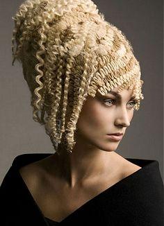 Wild Crazy Hair Styles for Halloween Straight Hairstyles, Braided Hairstyles, Cool Hairstyles, Blonde Hairstyles, Updo Hairstyle, Blonde Wavy Hair, Crimped Hair, Fantasy Hair, Creative Hairstyles