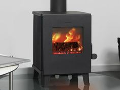 Morso 1416 wood burning stove. Contemporary alternative to the popular Morso Squirrel stoves.