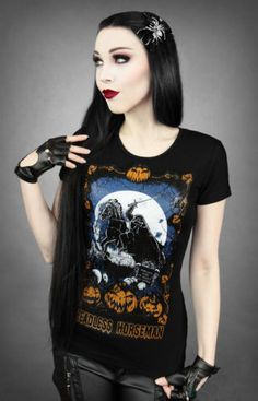 Restyle-T-Shirt-Headless-Horseman-Sleepy-Hollow-Fantasy-Steampunk-Gothic-RS36