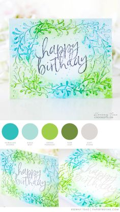 May 2017 - Hawaiian Shores, Aqua Mist, Green Parakeet, New Leaf, Soft Stone (Keeway Tsao)