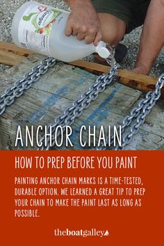 Don't add to the plastic trash in the water by using cable ties to mark your anchor chain -- paint it instead. Tips to make the paint last and be visible.