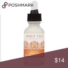 Brand-new & sealed About Face Organics Serum Brand-new and sealed eye, face, & neck serum by About Face Organics. Fair trade and vegan. The vitamin C content is 18%!  1 oz jar. Retails for $35 Makeup