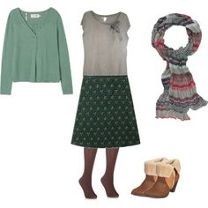 """""""Seasalt Autumn/Winter Green & Brown"""" by certainstyle on Polyvore"""