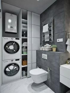 bathroom towel ideasiscertainly important for your home. Whether you choose the mater bathroom or small laundry room, you will create the best diy bathroom remodel ideas for your own life. Laundry Room Bathroom, Laundry Room Design, Budget Bathroom, Bathroom Ideas, Laundry Rooms, Bathroom Remodeling, Small Laundry, Bathroom Designs, Basement Laundry