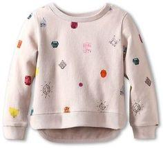 Stella McCartney Kids - Judy Girls Sweatshirt w/ Jewels (Toddler/Little Kids/Big Kids) (Pink) - Apparel on shopstyle.com