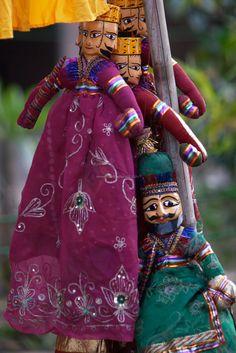 Colorful Indian Dolls, Delhi, India