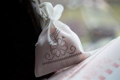 gift bag with cross stich Latvian etnographic by AriZaDesign