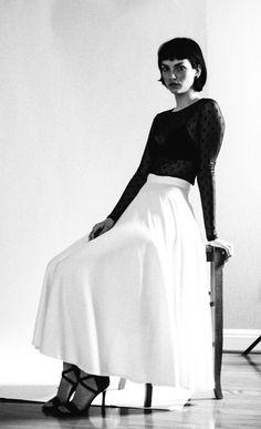 Vintage 1980s Norma Kamali Skirt | Model: Casey Photo: Eric Morales