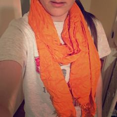 Shimmery orange scarf Shimmery orange scarf Bundle for more discounts!  Accessories Scarves & Wraps