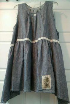 Beautiful Heirlooms railroad stripe tunic