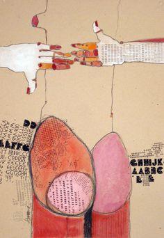 """Saatchi Online Artist: Kasia Gawron; Paper, 2012, Assemblage / Collage """"BODY 6"""""""