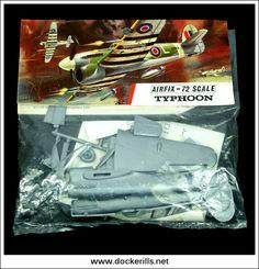 Plastic Model Kits, Plastic Models, Airfix Models, Hawker Typhoon, Airfix Kits, Striped Bags, Army Men, Ho Scale, Tamiya