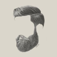 Mustache Drawing, Hair Sketch, Style Masculin, Beard No Mustache, Moustache, Awesome Beards, Beard Care, How To Draw Hair, Haircuts For Men