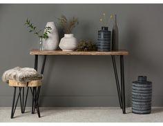 BORA Natural Solid acacia wood end table Decor, Table, Solid Mango Wood, Wood End Tables, Solid Wood Table, Iron Console Table, Home Decor, Wood Console, Wood Dining Table