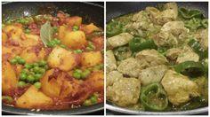 Jeera Chicken with Aloo Dum #recipe http://tinyurl.com/pcwujsn