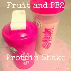 Fruit and PB2 Protein Shake Healthy Shakes, Protein Shakes, Weight Loss Surgery, Get Healthy, Healthy Foods, Sick, Shakeology, Healthy Smoothies, Yummy Drinks