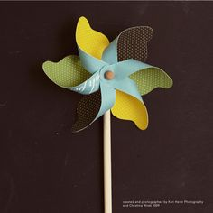 Make these paper pinwheels for your next summer party