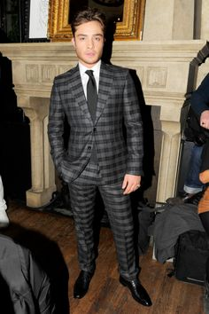 Chuck Bass..uh, we mean Ed Westwick, looking dapper in plaid