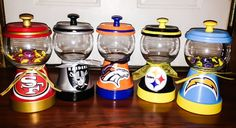 NFL Gumball Machine by mygirlaccessories on Etsy Clay Pot Projects, Clay Pot Crafts, Diy Clay, Jar Crafts, Tree Crafts, Diy Projects, Teen Projects, Weekend Projects, Pallet Projects