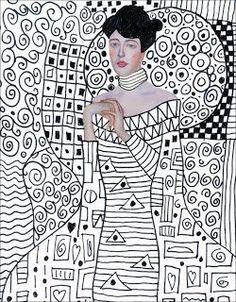 A la manière de Gustav Klimt