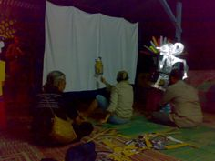 wayang uwuh made from hard paper (package) made by pak Iskandar