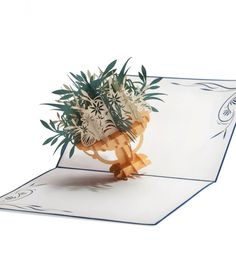 Pop. Delight. Surprise them with a fountain of flowers in a pot of gold.  This paper pop up card from LovePop is sure to make them smile. #popup