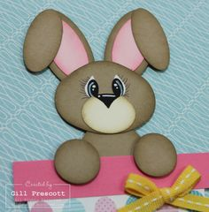Cute Punch art Easter bunny with tutorial