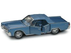 """Yat Ming Scale 1:18 - 1961 Lincoln Continental by Yat Ming. $77.61. From the Manufacturer                20088BU Yat Ming Road Signature 1961 Lincoln Continental Limo. 1:18 diecast model car. This 1961 Lincoln Continental Limousine is an 11"""" diecast car with opening doors/trunk/hood, convertible, detail engine, fully carpeted trunk, spare tire, and adjustable arm set, sun visor. This 61 Lincoln is manufactured by Yat Ming. 20088 in blue color. Individually packed ..."""