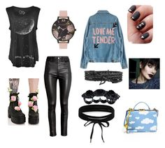 """""""Lil grungier"""" by emily-butkus on Polyvore featuring H&M, Sugarbaby, Mark Cross, Olivia Burton, Boohoo and Dsquared2"""