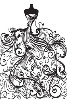 free vector Wedding clip art coloring page for grown ups ...