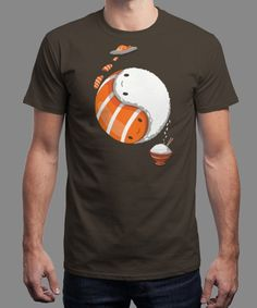 """""""Sushi Tao"""" is today's £8/€10/$12 tee for 24 hours only on www.Qwertee.com Pin this for a chance to win a FREE TEE this weekend. Follow us on pinterest.com/qwertee for a second! Thanks:)"""