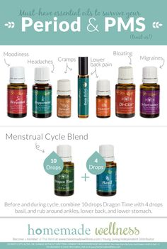 9 MUST-HAVE essential oils to survive your period PMS! TO purchase www.theoildropper.com