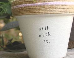"Aloe Ha 4"" and 6"" pots available for your aloe vera plant! Pot does not include plant. These hand painted and stamped pots are perfect for your indoor herb garden! All pots made by Plant Puns are sealed with an earth safe finish for safe growing and consumption of edible herbs. Pots contain a drainage hole. Is this a gift?! Send us a message and we'll be sure to include a special note from YOU free of charge! If you're looking for a set of herbs be sure to check out our specials for…"