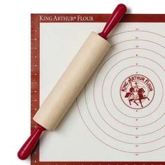 "King Arthur Flour 12"" Maple Rolling Pin And Mat Set"