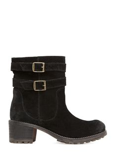 MANGO - TOUCH - Buckle fastening suede ankle boots