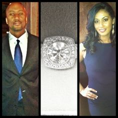Newly Engaged Corey & Kim, ring made by Varna Inc.