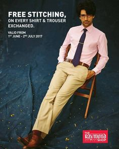 Be kind, because kindness matters 😊Raymond presents 'Shirt & Trouser Exchange Programme in association with Goonj'.Exchange your old yet usable shirts, trousers and get free stitching on new ones at The Raymond Seconds Shop - Paldi TODAY!#RaymondGOONJ #Goonj #Happiness #JoyOfGiving #RaymondStore #Ahmedabad