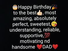 Thanks For Birthday Wishes, Happy Birthday Quotes For Friends, Happy Birthday Wishes Images, Birthday Quotes For Best Friend, Dad Quotes From Daughter, Bff Quotes, Cute Love Songs, I Am Awesome, Hani