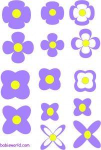 moldes de flores em formato pdf