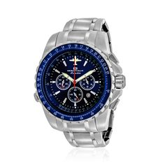 24dc849a6 OCEANAUT Japanese Movement Water Resistant Men s Watch with Stainless Steel  Strap  amp  Back Casio Watch