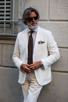 Best Mens Fashion, Suit Fashion, Blazer Fashion, Costume En Lin, Cool Street Fashion, Street Style, Linen Suits For Men, Summer Suits, Men Street