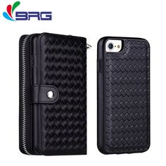 >> Click to Buy << BRG 2 In 1 Cases For apple iPhone 7 plus Leather Wallet Card For iPhone 5s 6 6s Plus 5SE Case Cover Flip Pu Leather Shell Phone #Affiliate