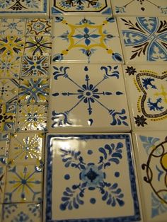 diy hand painted tiles