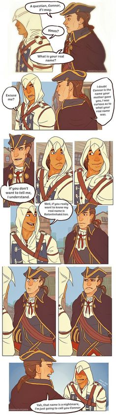 Assassin's Creed 3- Name Game by cherrysplice on Deviantart. Haytham and Connor Kenway