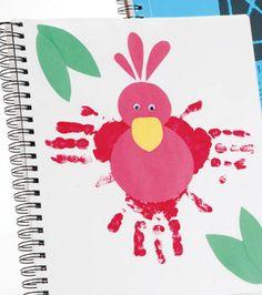 Handabdruck Bilder gestalten - Süße Ideen für Kinder im Kindergarten