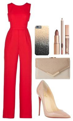 """""""Untitled #140"""" by brunarampazzo ❤ liked on Polyvore featuring BCBGMAXAZRIA and Christian Louboutin"""